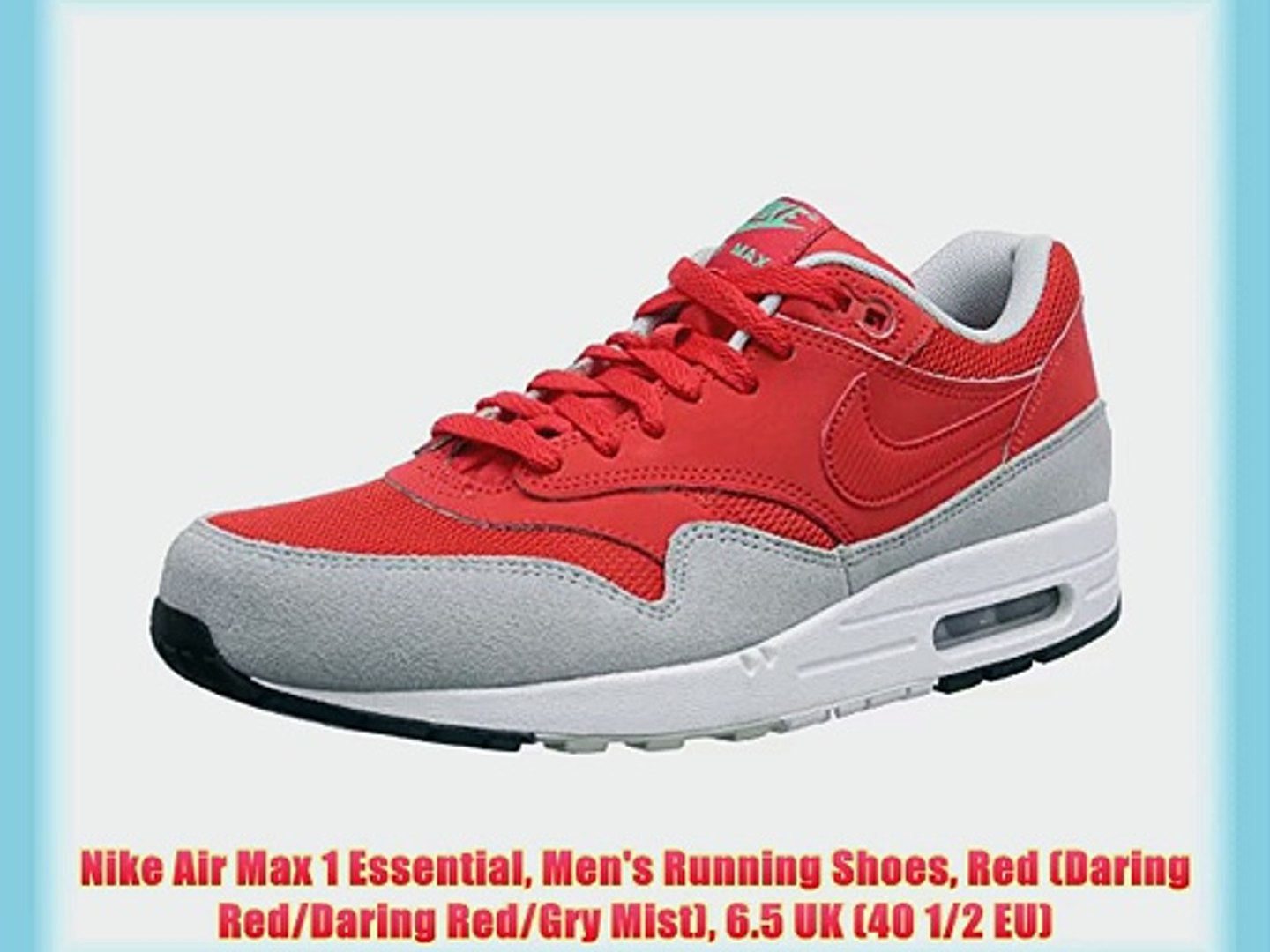Nike Air Max 1 Essential Men's Running Shoes Red (Daring Red/Daring Red/Gry Mist) 6.5 UK (40