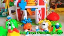 Play Doh Barnyard Pals Grow Hair Smurfs Miniatures Play-Doh Fun