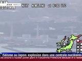 Japon: explosion à la centrale nucléaire de Fukushima N°1