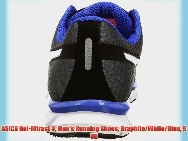 Inclinarse celestial Por favor mira  ASICS Gel-Attract 3 Men's Running Shoes Graphite/White/Blue 9 UK - video  dailymotion