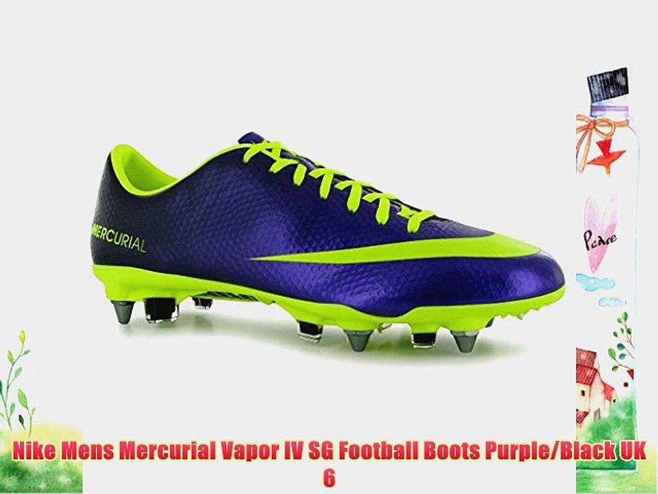 Nike Mens Mercurial Vapor IV SG Football Boots PurpleBlack UK 6