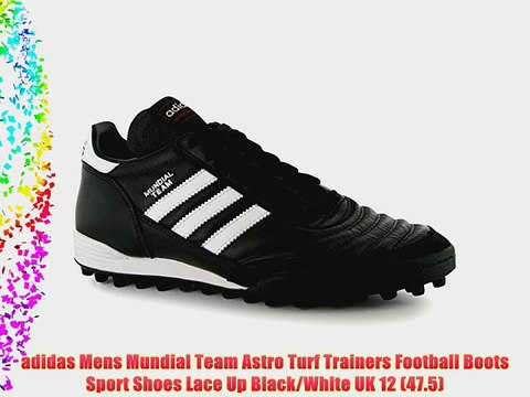 adidas Mens Mundial Team Astro Turf Trainers Football Boots Sport Shoes Lace Up BlackWhite