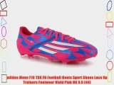 adidas Mens F10 TRX FG Football Boots Sport Shoes Lace Up Trainers Footwear Vivid Pink UK 9.5