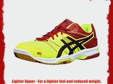 Onistuka Tiger Gel-Rocket 7 Men's Volleyball Shoes Yellow (Flash Yellow/Black/Chinese Red 790)