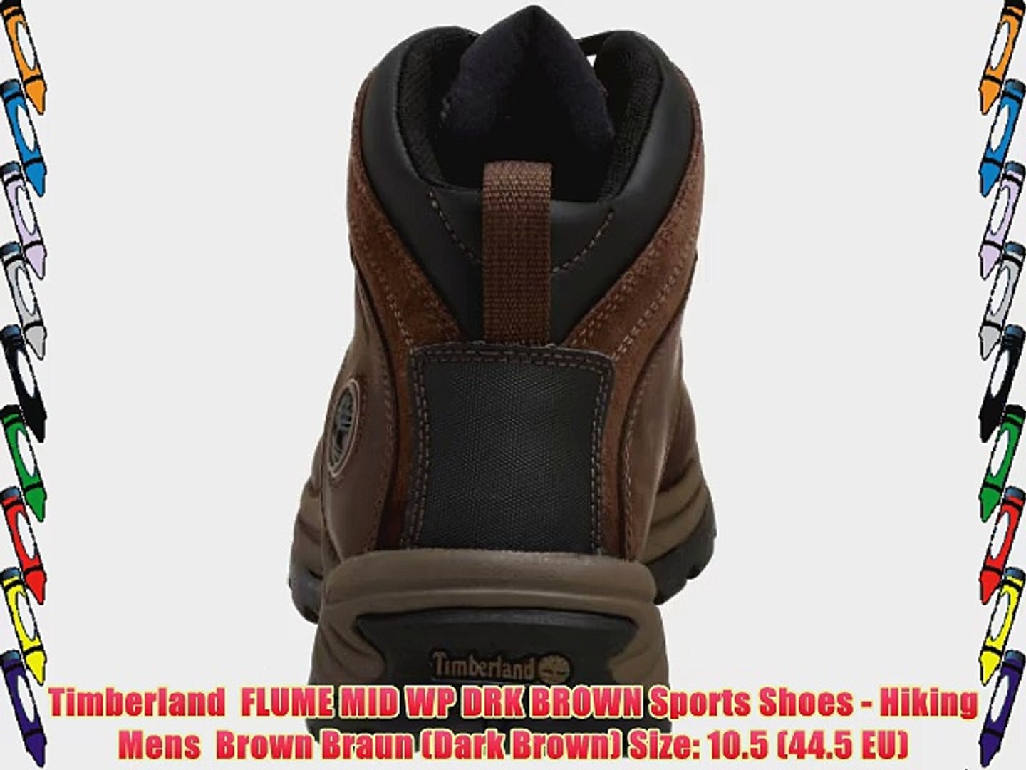 8523f58516c Timberland FLUME MID WP DRK BROWN Sports Shoes - Hiking Mens Brown Braun  (Dark Brown) Size: