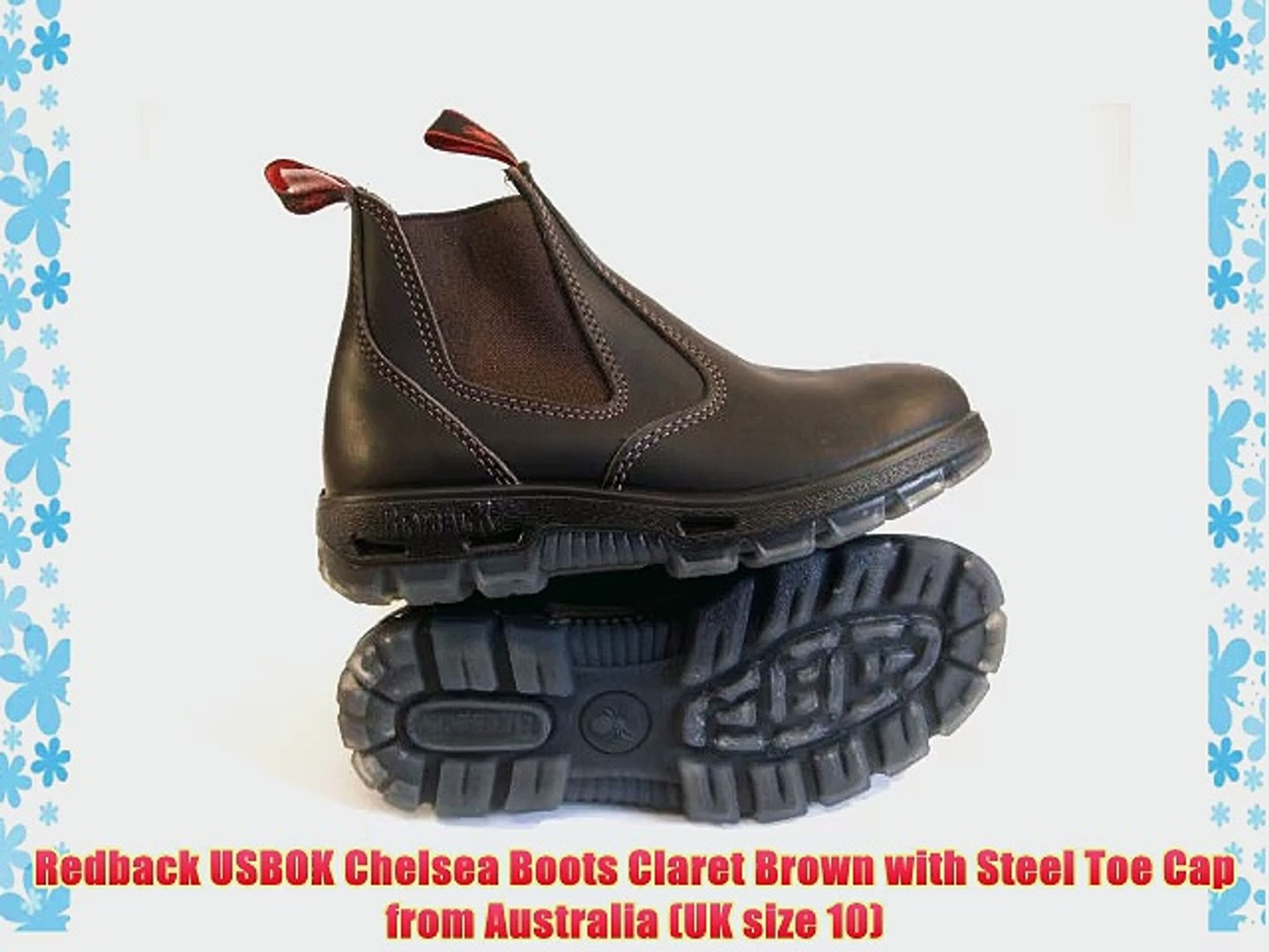 b33822f1f35 Redback USBOK Chelsea Boots Claret Brown with Steel Toe Cap from Australia  (UK size 10)