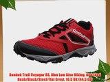 Reebok Trail Voyager RS Men Low Rise Hiking Red (Red Rush/Black/Steel/Flat Grey) 10.5 UK (44.5