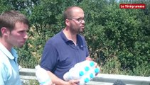 Saint-Agathon (22). Les producteurs de lait installent un barrage filtrant sur la RN 12