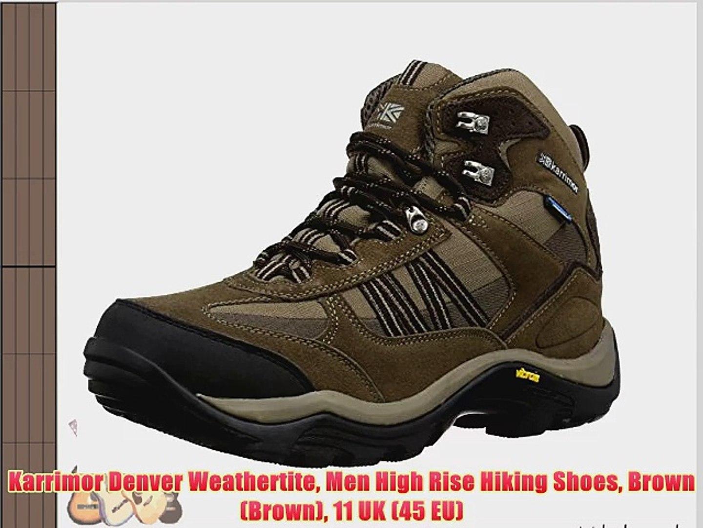 29c5ccd89e4 Karrimor Denver Weathertite Men High Rise Hiking Shoes Brown (Brown) 11 UK  (45 EU)