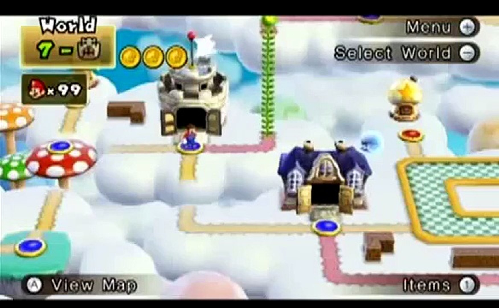 New Super Mario Bros Wii How To Get To World 7 6 Video