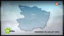METEO JUILLET 2015 [S.7] [E.10] - Météo locale - Prévisions du vendredi 10 juillet 2015