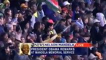 Obama Speech in honor of Mandela / Dicours d'Obama en hommage à Mandela