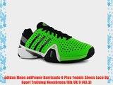 adidas Mens adiPower Barricade 8 Plus Tennis Shoes Lace Up Sport Training NeonGreen/Blk UK