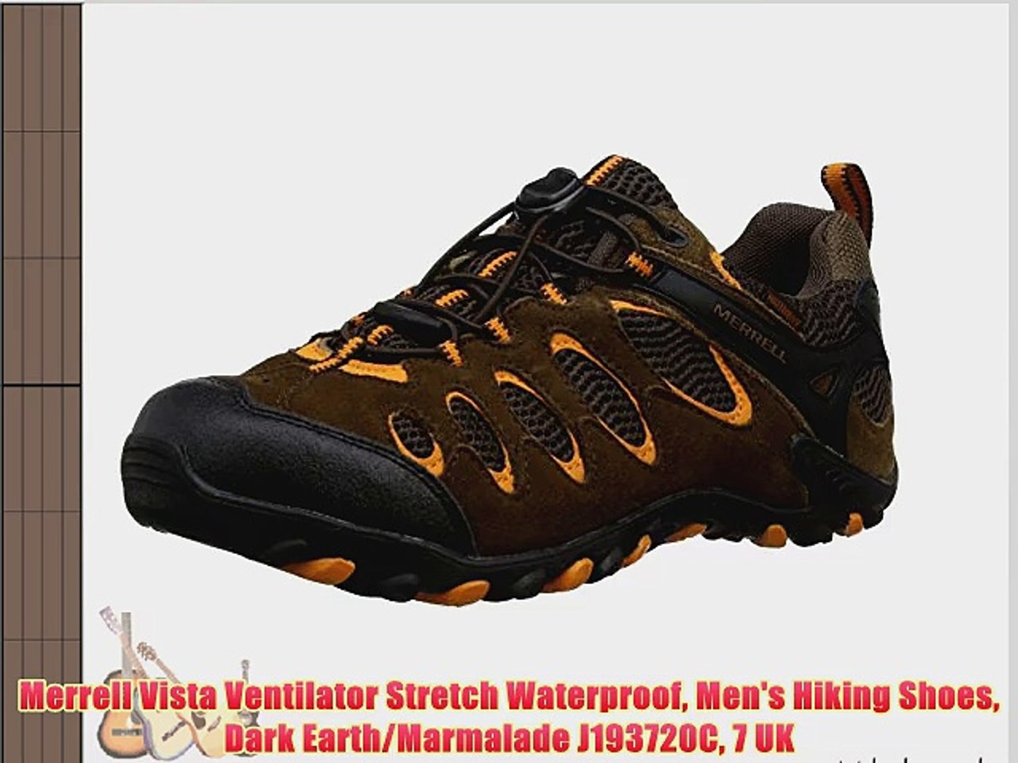 Merrell Vista Ventilator Stretch Waterproof Men's Hiking Shoes Dark  Earth/Marmalade J193720C