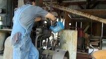 Starting diesel old diesel engine