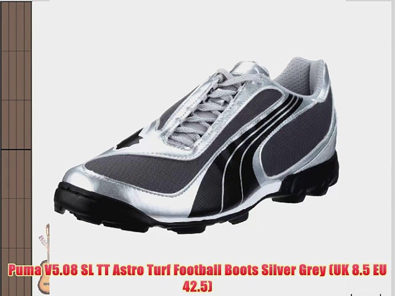 Puma V5.08 SL TT Astro Turf Football Boots Silver Grey (UK 8.5 EU 42.5)