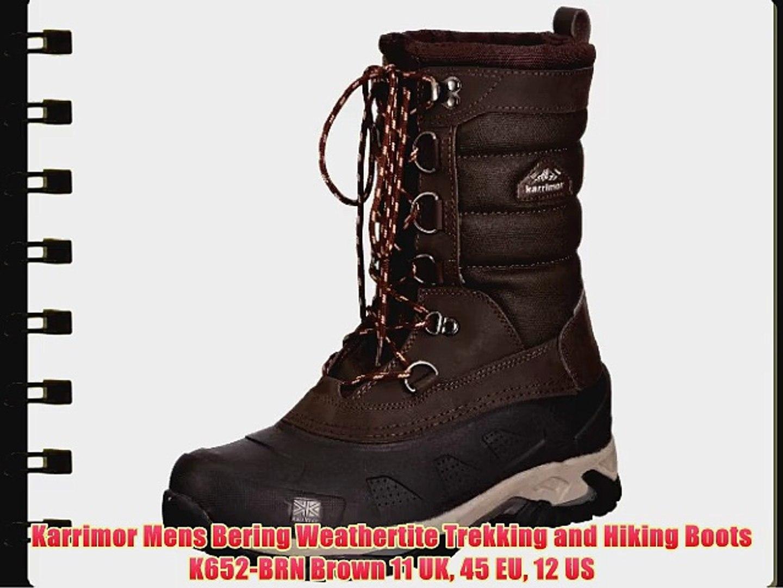 db77bdc0b07 Karrimor Mens Bering Weathertite Trekking and Hiking Boots K652-BRN Brown  11 UK 45 EU 12 US