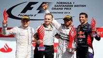 F1 2015 British GP Great Britain Silverstone Rosberg Bottas and Lewis Hamilton Start Onboa