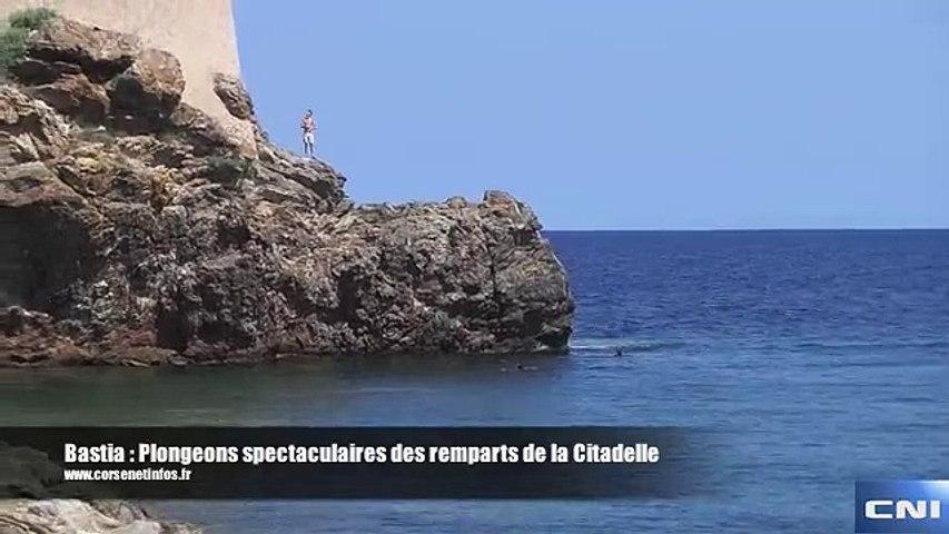 Bastia : Plongeons spectaculaires des remparts de la Citadelle