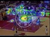 Michael Jordan - Human Attention Heatmap, Directions an Fixation Time. Computer Vision Eyetracking study (Top 10 Amazing Michael Jordan Clip)
