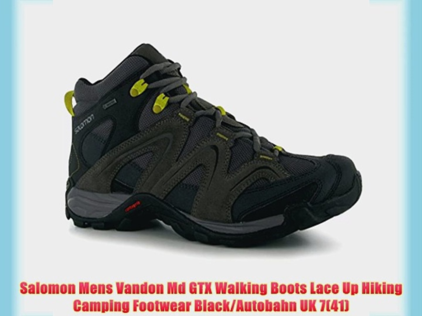 Salomon Mens Vandon Md GTX Walking Boots Lace Up Hiking