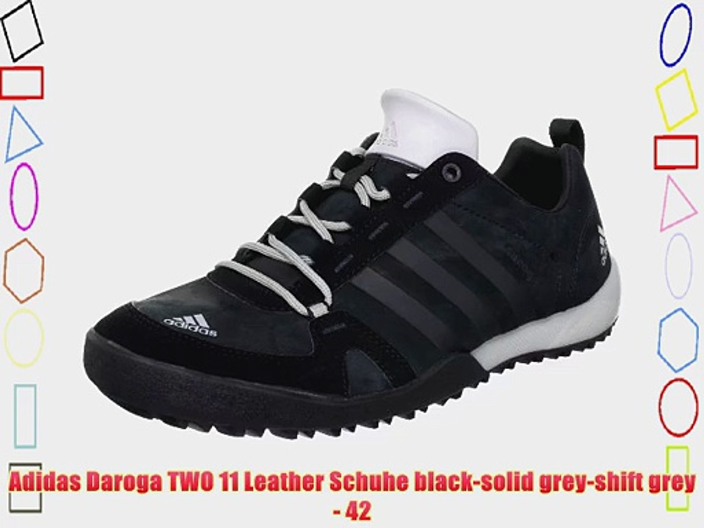 new concept 293c9 cac4c Adidas Daroga TWO 11 Leather Schuhe black-solid grey-shift grey - 42
