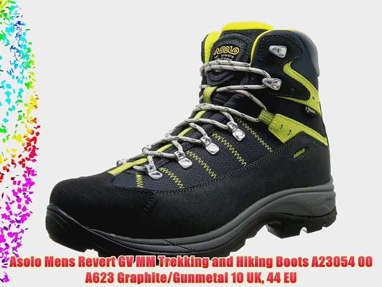 443e472a6df Asolo Mens Revert GV MM Trekking and Hiking Boots A23054 00 A623  Graphite/Gunmetal 10 UK 44