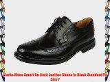 Clarks Mens Smart Un Limit Leather Shoes In Black Standard Fit Size 7