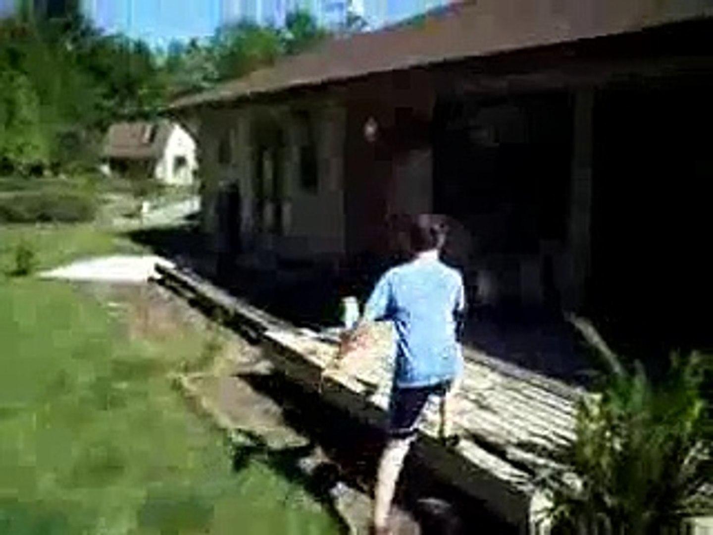 Exploding Bottle Rocket Nut ShotVideo