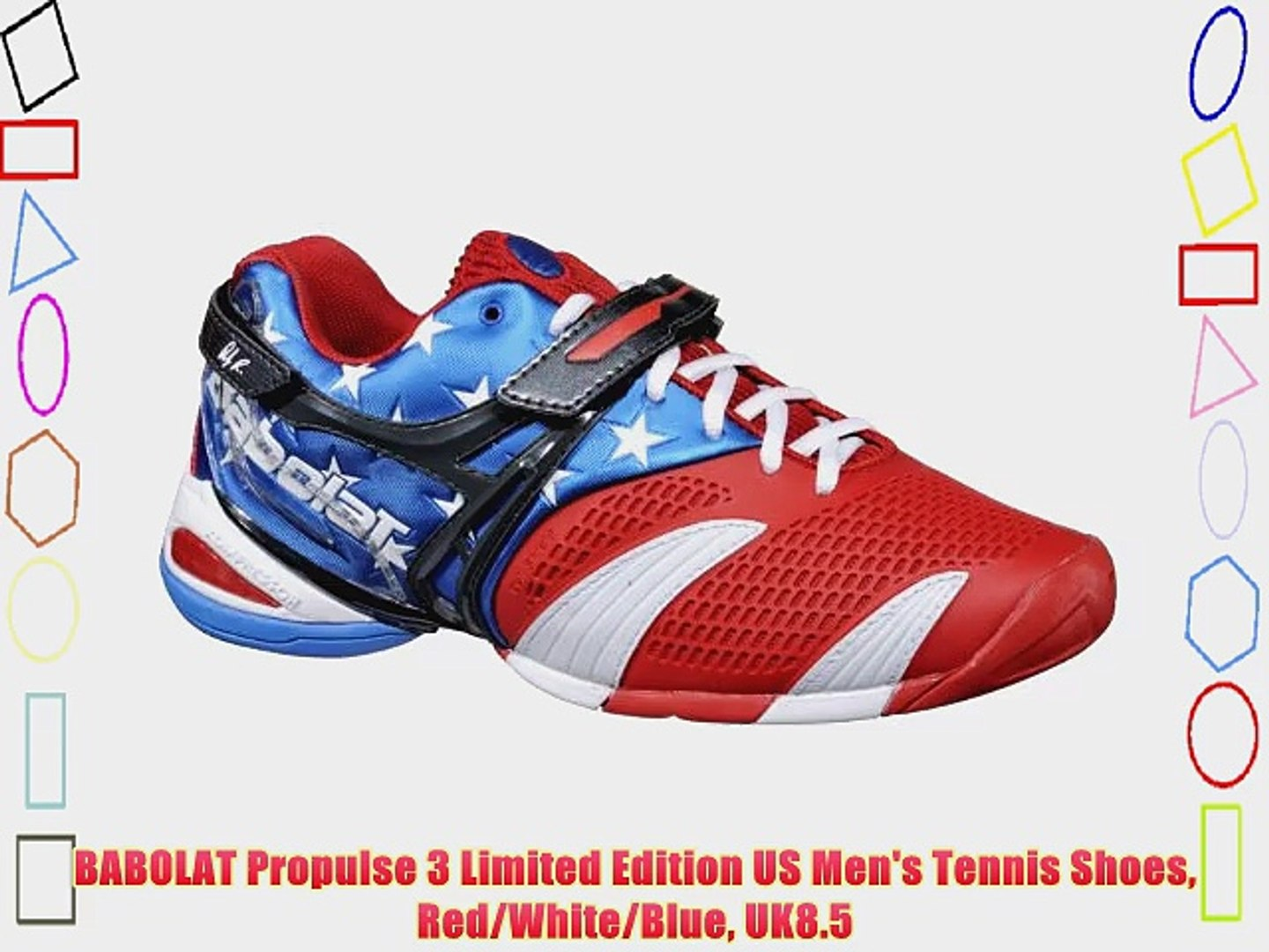 BABOLAT Propulse 3 Limited Edition US Men's Tennis Shoes Red/White/Blue UK8.5