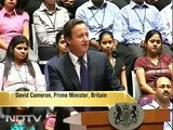 Cameron begins high octave India visit