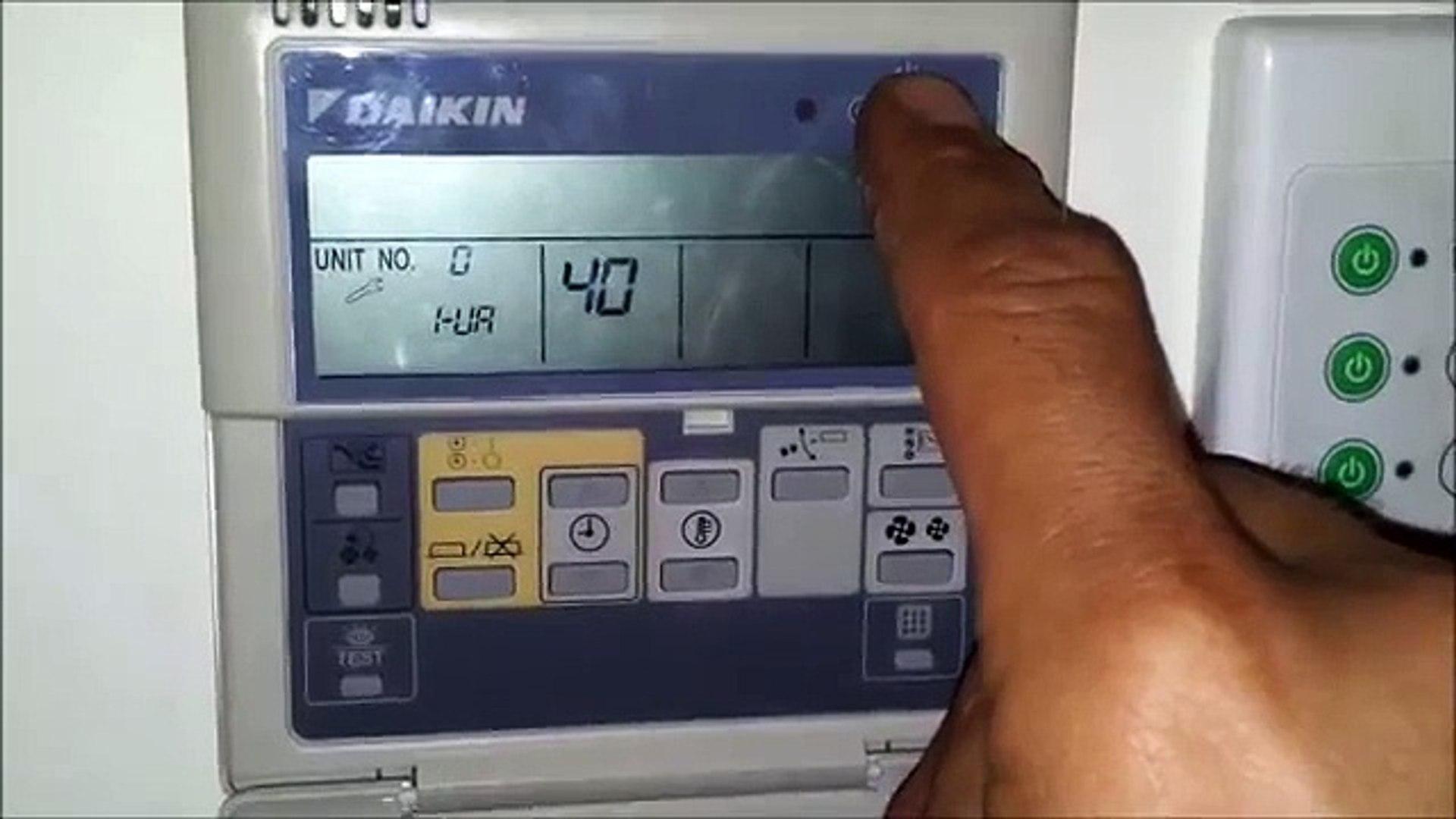 Daikin AC wall control reset, does not reset