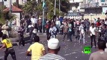 وجها لوجه..اشتباكات عنيفة بالحجارة والاسلحة النارية بالاسكندرية