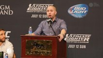 Dave Sholler offers statement on Travis Browne at UFC 189 press conference
