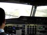 Aterrizaje en Ushuaia desde la cabina del Fokker F28 Fuerza Aerea Argentina LADE Landing in Ushuaia