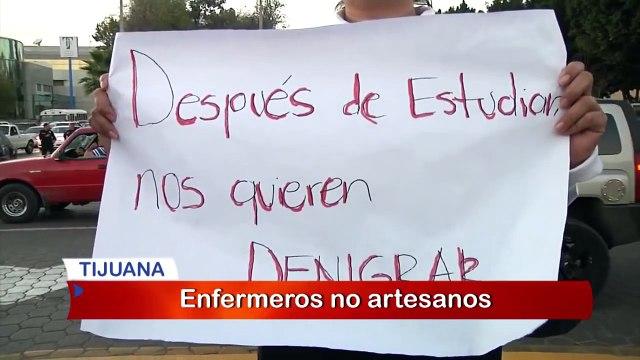 Enfermeras se manifiestan contra la reforma de salud
