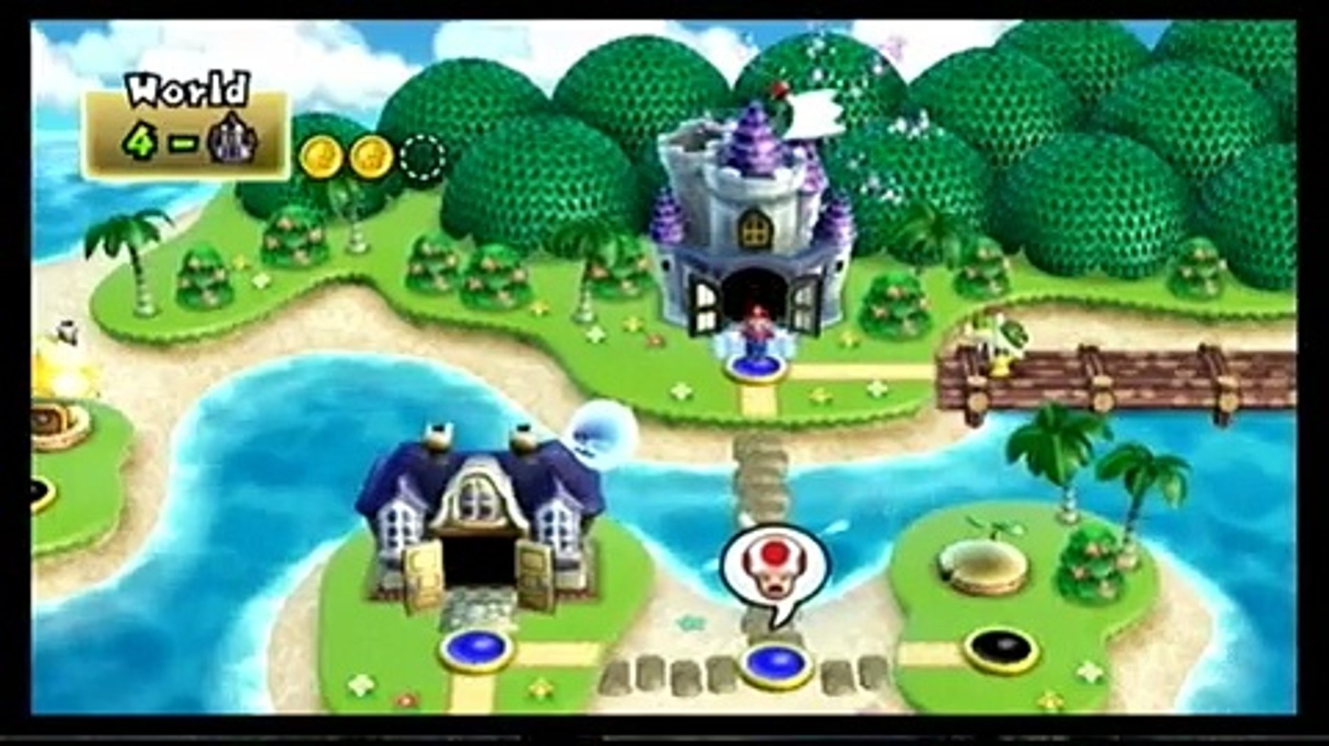 New Super Mario Bros Wii World 4 Boss Wendy And First Airship