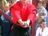Paraugdemonstrējumi karate Kyokushinkai Tukuma pilsētas svētkos