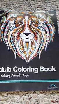 BOOK REVIEW:  Adult Coloring Book:  Stress Relieving Animals Designs by Blue Star Books