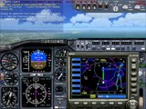 Full ILS landing flight simulator 2004 on a boeing 737-400