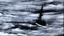 Infrared video of floundering sailboat prior to Coast Guard, Navy rescue off east coast