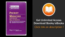 Pocket Medicine The Massachusetts General Hospital Handbook of Internal Medicine Pocket Notebook PDF