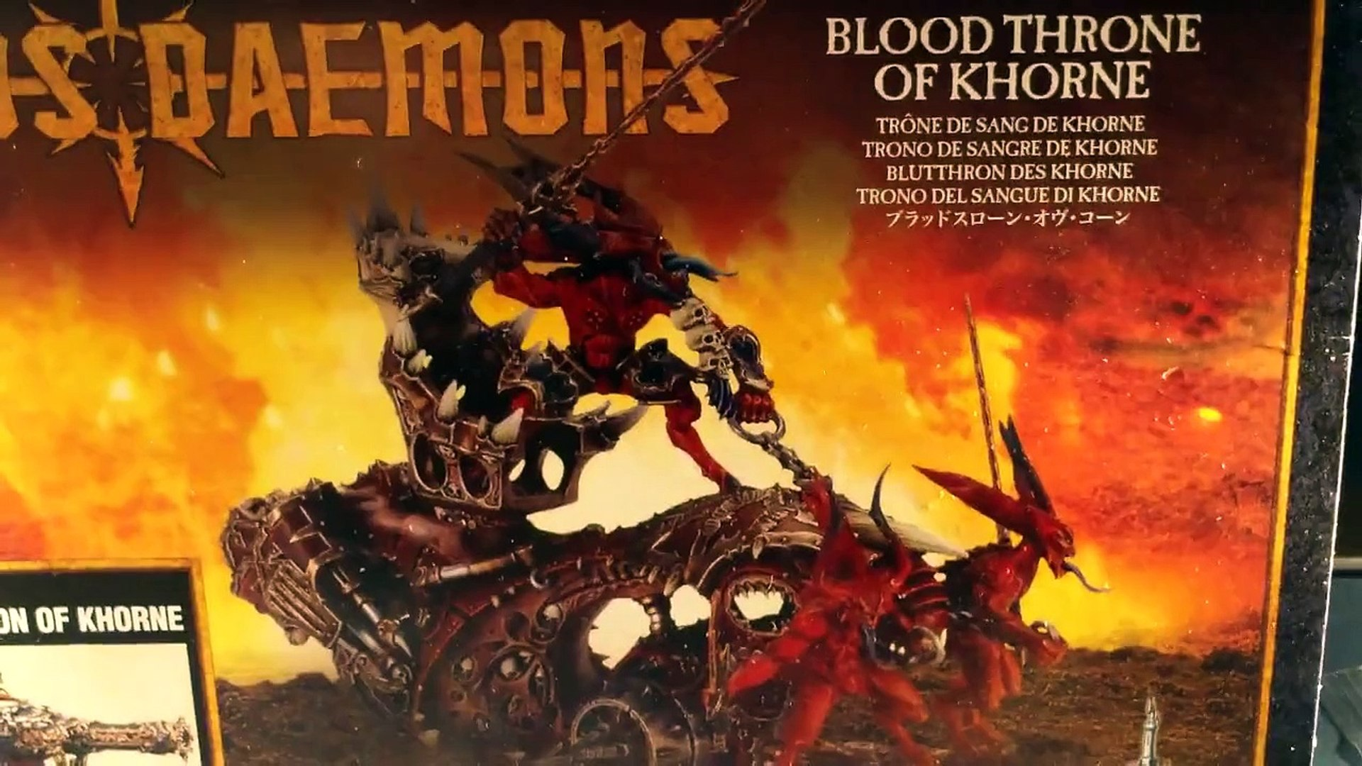 Warhammer 40,000 Blood Throne of Khorne/Skull Cannon of Khorne Unboxing