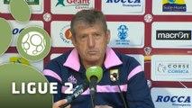 Conférence de presse AC Ajaccio - Evian TG FC (1-1) : Olivier PANTALONI (ACA) - Safet SUSIC (EVIAN) - 2015/2016