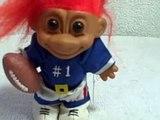 Russ Troll Doll Football Player Used # 3T
