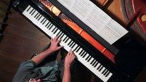 """""""Recuerdos de la Alhambra"""" by Tárrega PIANO SOLO with Score, Overhead & Tutorial"""