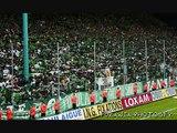 """Saint-Etienne:""""Ici c'est le Chaudron!"""" (Tifos Magic Fans 1991 & Green Angels 1992)"""
