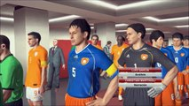 World Soccer Winning Eleven (PES 2014) - China vs. Holland (5-0) 中国 対 オランダ