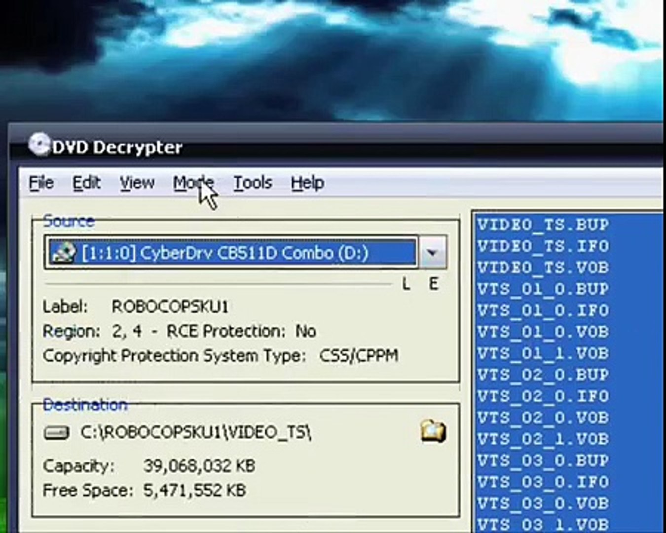 2007-03-16 - RRUU - CONVERT DVD TO AVI (DIVX/XVID) WITH DVD DECRYPTER &  VIDOMI