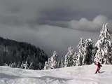 Skiing Down Grouse Mountain, North Vancouver, Canada